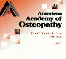 American Academy of Osteopathy Yearbook CD 1938 to 1998