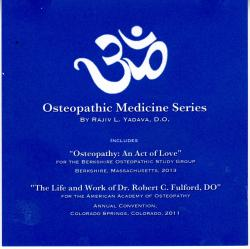 Osteopathic Medicine Series: CD Lectures